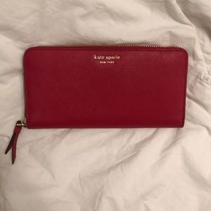 NWT Red Kate spade large continental wallet